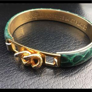 Manelli Florence Green Snakeskin Bracelet